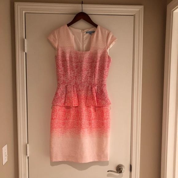 ab38e8db29 ANTONIO MELANI Dresses   Skirts - Antonio Melani Ombré Pink Peplum Dress  Size 4